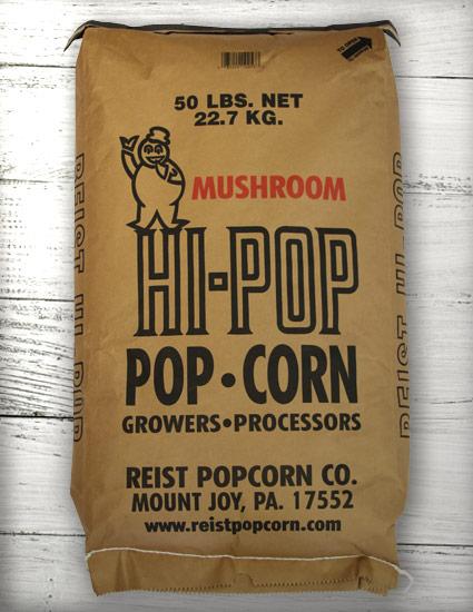 Yellow Mushroom Hi Pop Popping Corn 50lb Bag